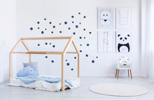 Irregular Dots Wall Stickers - Blue