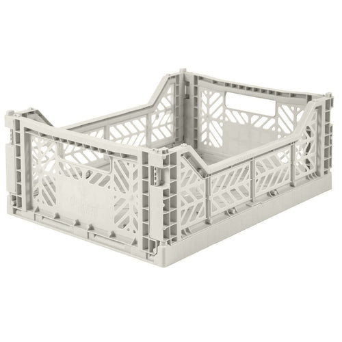 Light Grey Folding Crate - Medium