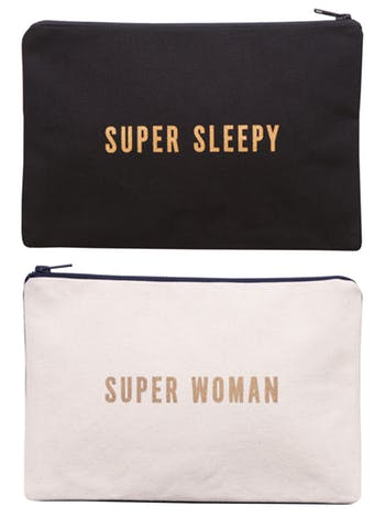 Super Sleepy / Super Woman - Double-sided Pouch