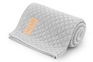Double-Sided Bamboo Blanket 80x100 Light Grey
