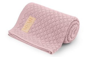 Double-Sided Bamboo Blanket 80x100 Powder Pink