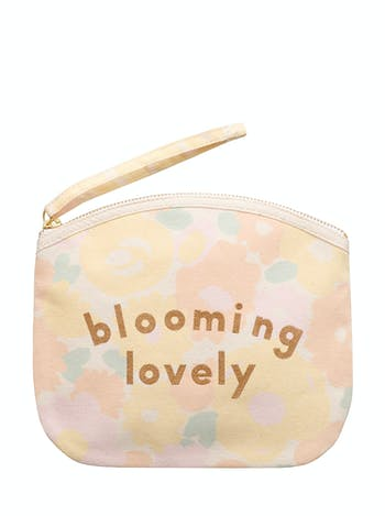 Blooming Lovely - Floral Canvas Pouch