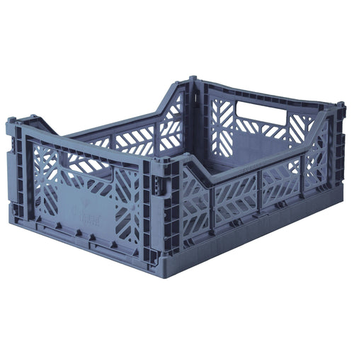 Colbalt Blue Folding Crate - Medium
