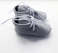 Leather Baby Boots - Grey
