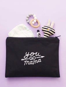 You Go Mama - Embroidered Pouch