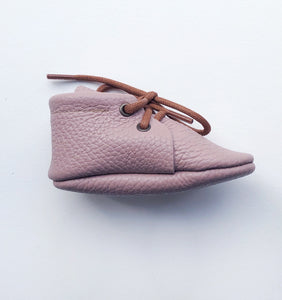 Leather Baby Boots - Mauve