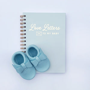 'Love Letters To My Baby' Mint Green Foil Notebook