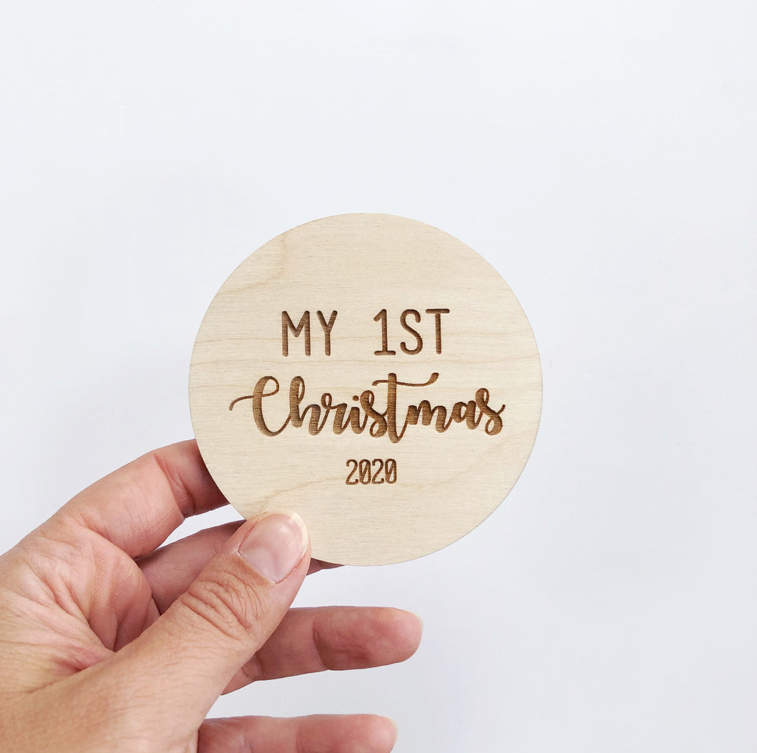 My 1st Christmas Plaque