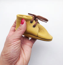 Leather Baby Boots - Mustard