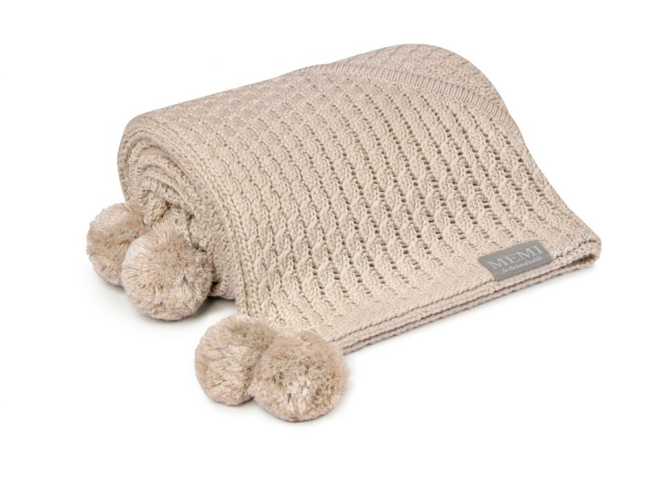 Bamboo blanket with a hood - Light Beige