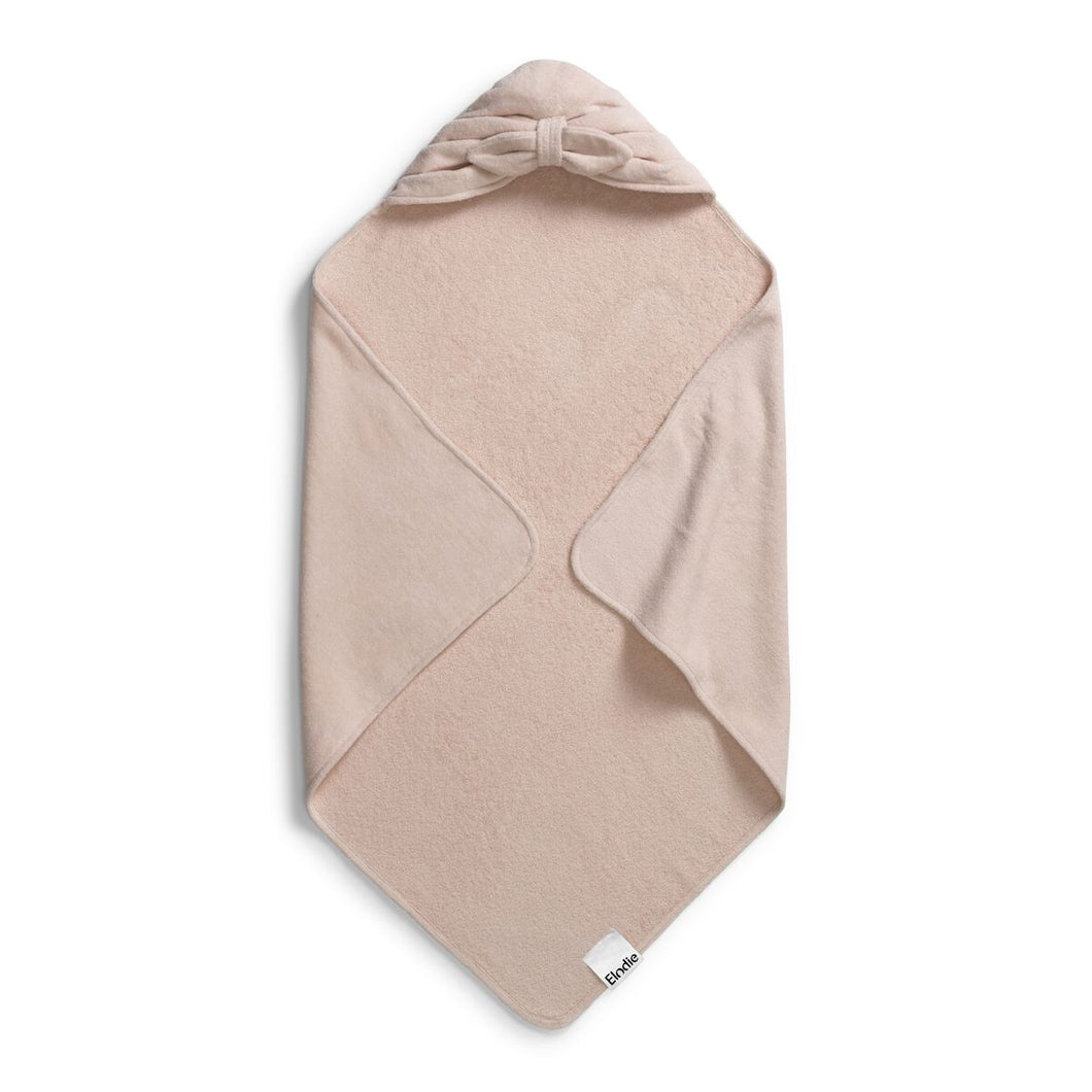 Hooded Towel - Powder Pink Bow