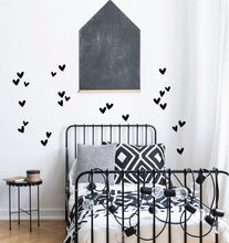 Irregular Hearts Wall Stickers - Black