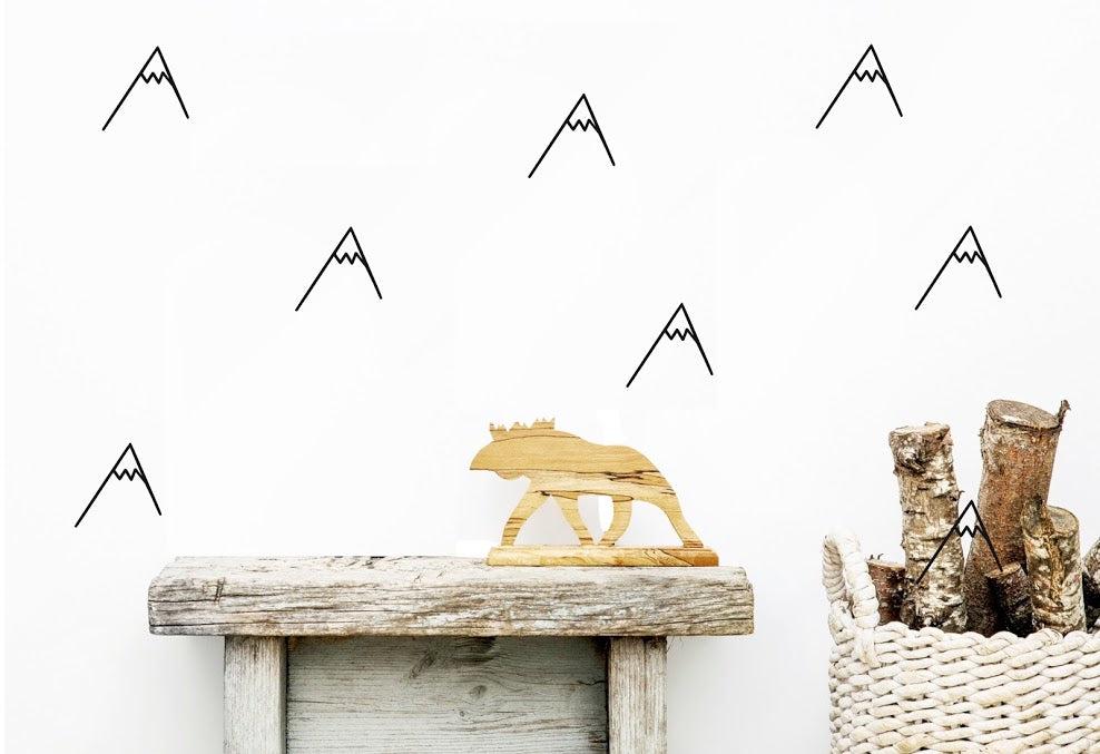 Mountains Wall Stickers - Black