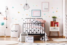 Irregular Stars Wall Stickers - Gold/Mint