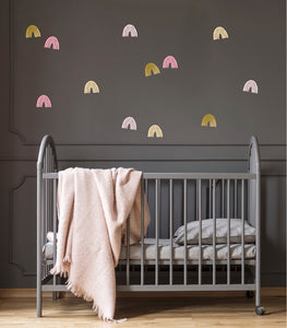 Rainbow Mixed Wall Stickers - Pink