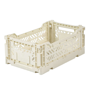 Cream Folding Crate - Small