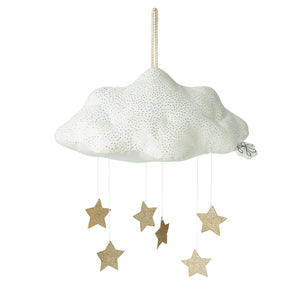 Corduroy Cloud with Stars - White