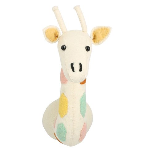 Natural Pastel Cream Giraffe Mini Head