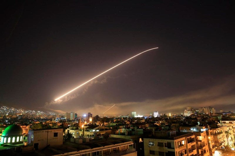 Anglo-French-Americans launched 110 missiles into Syria