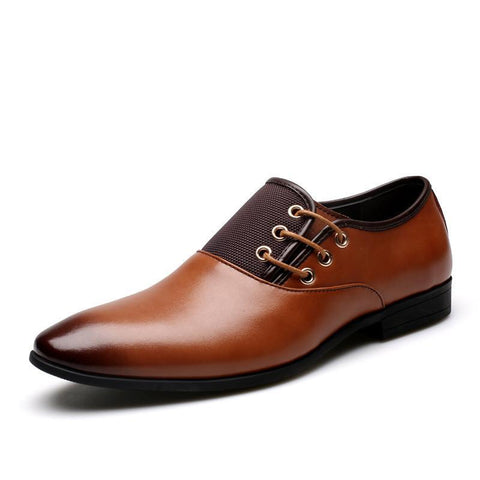 Black Brown Oxford Shoes - TungBOBO