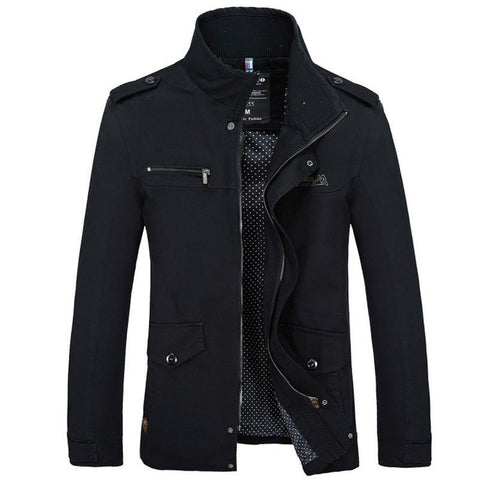 Man Jackets Zipper Warm Cotton-Padded - TungBOBO