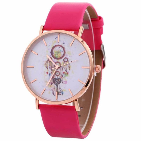 Watches woman 2017 Wind Chimes Pattern Quartz Wrist Watch For Leather Strap Watches Casual Montre Femme reloj de mujer #830 - TungBOBO