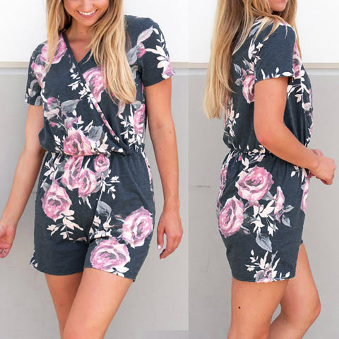 Women  Jumpsuit Summer Playsuit Beach Rompers - TungBOBO