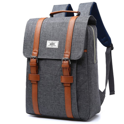 2018 Vintage Men Women Canvas Backpacks School Bags - TungBOBO