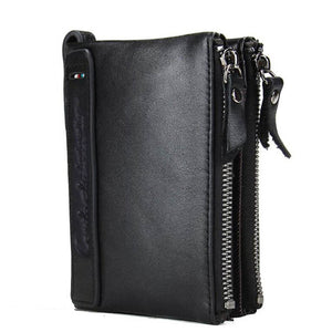 Leather Men Wallet Short Coin Purse #8 - TungBOBO