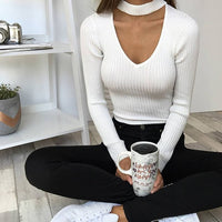 Jumpsuits Neck Long Sleeve Women Sexy - TungBOBO