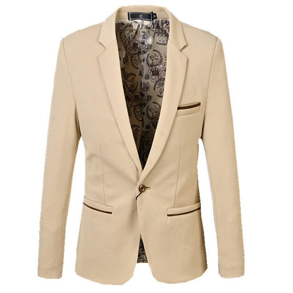 Men's Casual   Fashion Suit Blazer - TungBOBO