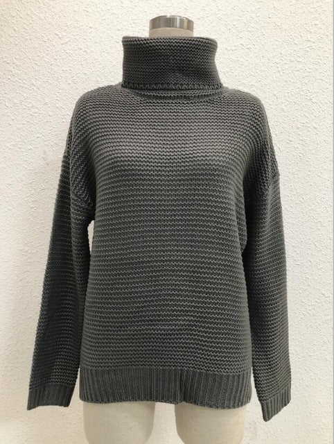 Coarse Pullover Women's Jumper Turtleneck Sweater Female Jumper Women Warm Sweater thick Winter Cable Knitted Oversized Sweater - TungBOBO