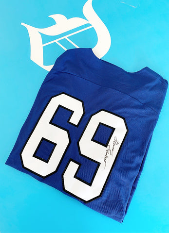 "Autographed ""69"" New Era Jersey"