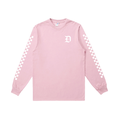 Dropout Pink Checkered Long Sleeve