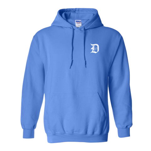 Light Blue Stitched Dropout Hoodie