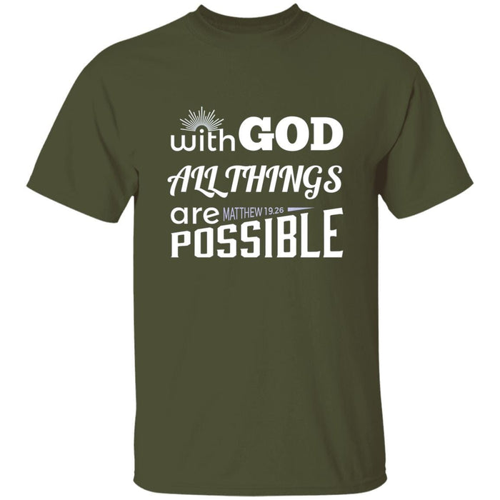 With God All Things Are Possible - Unisex