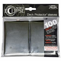 Pro Matte Eclipse: Deck Protector 100 Count Pack - Jet Black