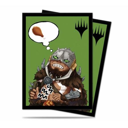 ULTRA PRO: MAGIC THE GATHERING DECK PROTECTOR - CHIBI COLLECTION - GARRUK - I'M STARVING 100CT