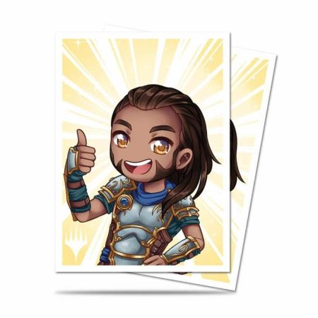 ULTRA PRO: MAGIC THE GATHERING DECK PROTECTOR - CHIBI COLLECTION - GIDEON - GOOD JOB 100CT