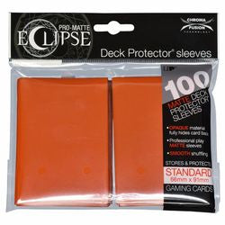 ULTRA PRO: ECLIPSE DECK PROTECTOR - PUMPKIN ORANGE STANDARD 100CT
