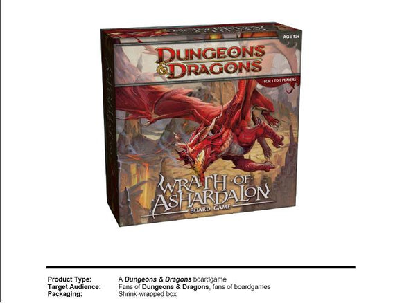 DUNGEONS AND DRAGONS: WRATH OF ASHARDALON BOARDGAME