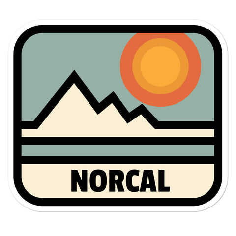 NorCal Hipster Sticker