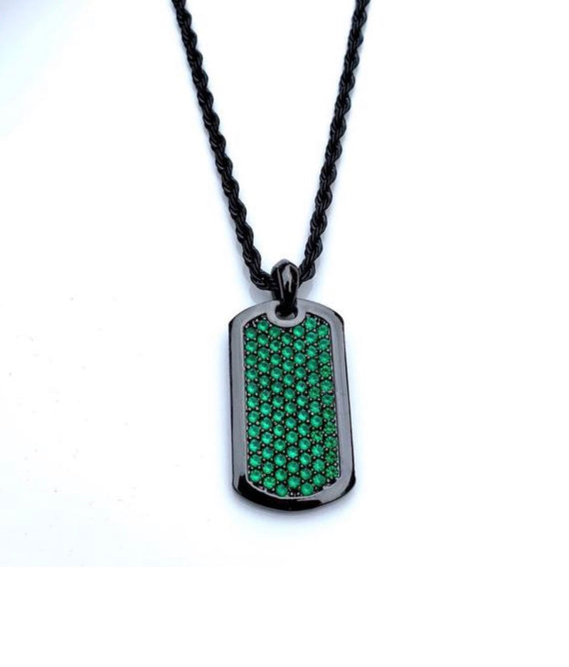 J. Vartani Couture - Dog Tag - Exquisite Emerald