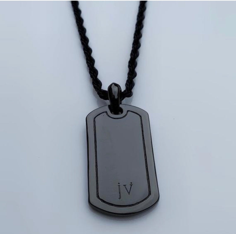 J. Vartani Couture - Dog Tag - Black Stud