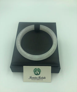 Myanmar grade A ice jadeite bangle size:61.4mm 201903233 - jasminejadeite