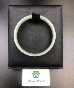 Myanmar grade A jadeite bangle 53.5mm 201904161 - jasminejadeite