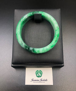 Myanmar grade A green jadeite bangle size:54.4mm 201903123 - jasminejadeite