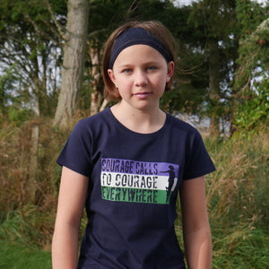 'Courage Calls' Suffragettes T-Shirt for Teens/Adults - Scarf Monkey
