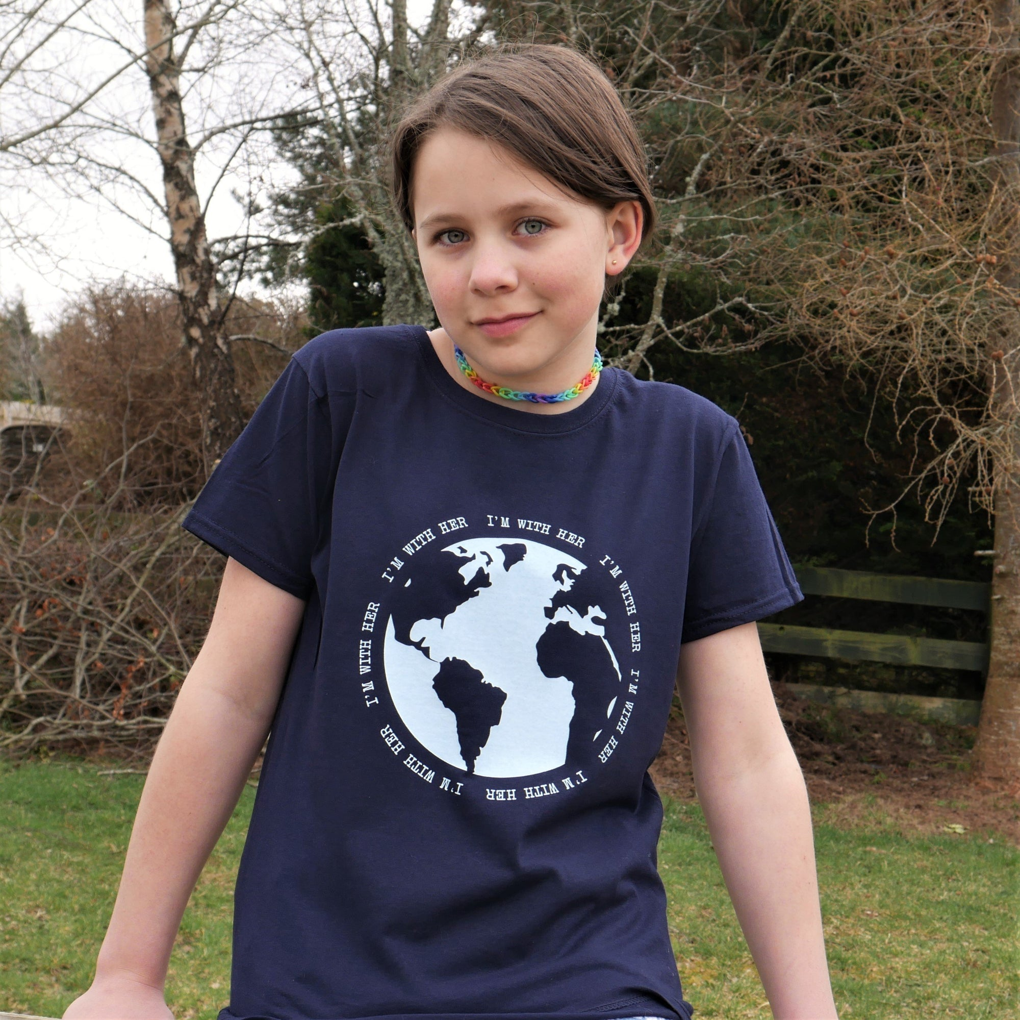 Earth Day #2 - Girls T-Shirt - Scarf Monkey