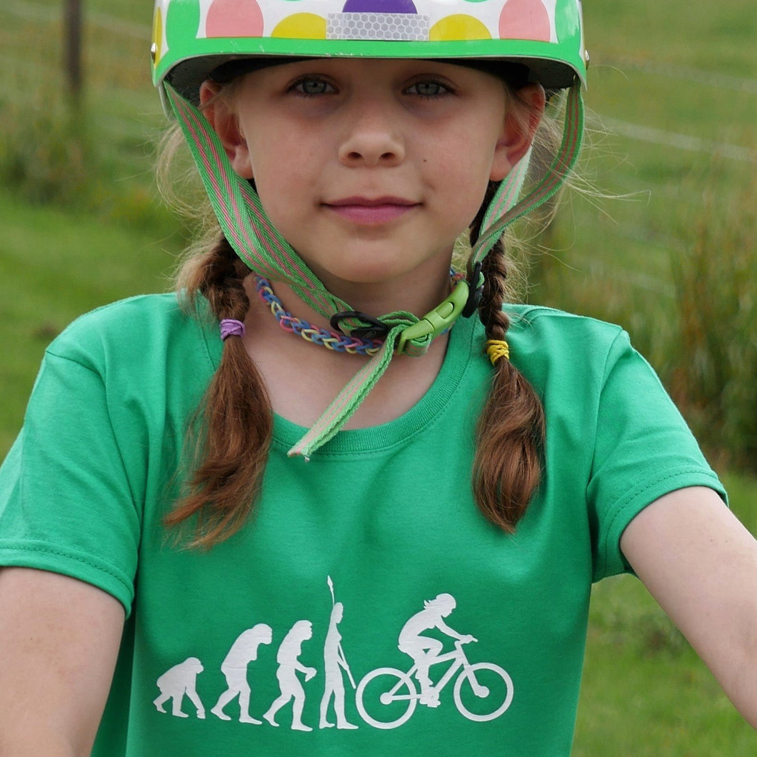 Evolution of Cycling T-Shirt - Scarf Monkey